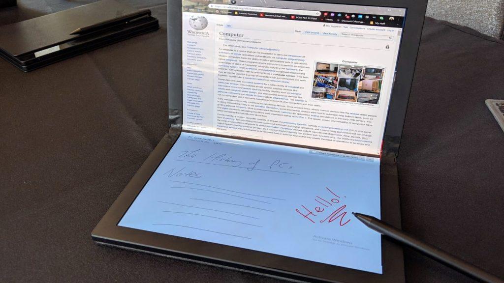 Lenovo Folding laptop